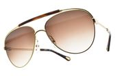 Chloe 太陽眼鏡 CE141S 757 (琥珀棕金-漸層棕鏡片) 歐美率性飛行款 墨鏡 # 金橘眼鏡