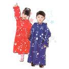 【YourShop】皮爾卡登星情童話兒童前開式輕柔雨衣(套頭款 紅色) ~親子雨衣 附同款收納袋~