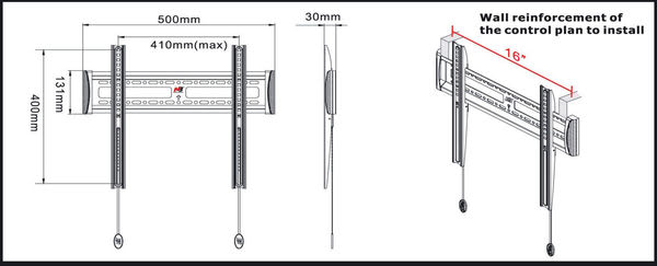 [卡瑪斯投影機銀幕]  液晶電視吊架(超薄3公分)顯示器吊掛架