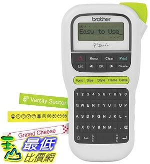 [7美國直購] 標籤機 Brother P-touch, PTH110, Easy Portable Label Maker, Lightweight, QWERTY Keyboard