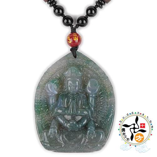 千手觀音{印度瑪瑙}中國結項鍊M 【十方佛教文物】
