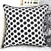 時尚六邊形印花沙發靠枕 抱枕 腰枕 靠背墊