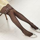 日系蕾絲花朵點點透膚顯瘦絲襪褲襪(黑色)