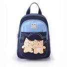 後背包~雅瑪小舖日系貓咪包 啵啵貓好朋友兩用後背包/手提包/拼布包包