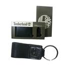 Timberland 黑色男性短夾 + 鑰匙圈、精美組 外盒瑕疵 出清