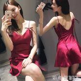 露背洋裝2018夏季時尚氣質顯瘦禮服性感夜店女裝潮露背吊帶抹胸連身裙 法布蕾輕時尚