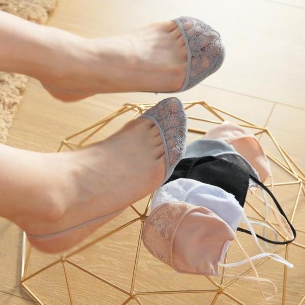 5雙裝極超淺口隱形吊帶船襪 女士高跟鞋細帶半腳掌純棉襪子女短襪