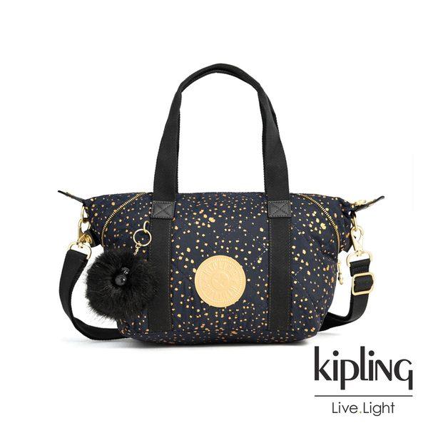 Kipling 夜黑潑墨星點手提側背包-ART MINI