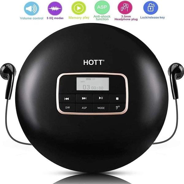[9美國直購] CD Player CD播放器 HOTT CD711 Portable Personal Disc CD Player Walkman