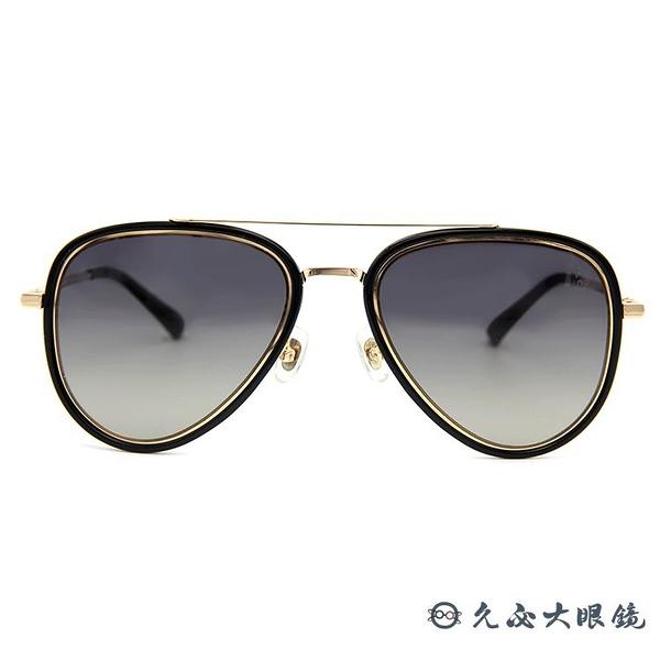 HELEN KELLER 林志玲代言 H8756 N21 (黑-金) 飛官款 偏光太陽眼鏡 久必大眼鏡