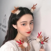 仙女森系超仙發箍小鹿角頭飾少女發卡麋鹿發夾拍照道具網紅發飾品 喵小姐