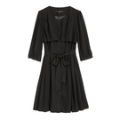 【MASTINA】氣質蝴蝶結洋裝-黑 0...