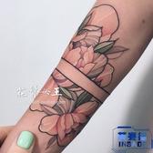 5張 花朵臂環 花朵花卉 少女紋身貼 仿真逼真刺青貼【英賽德3C數碼館】