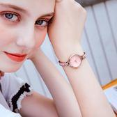 韓版女士防水石英手錶女生學生時尚新款潮流手鍊錶女錶