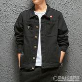 日系工裝夾克男春秋街頭潮流寬鬆韓版大碼黑色牛仔外套上衣男 概念3C旗艦店
