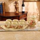英式下午茶茶具套裝茶杯陶瓷杯子家用咖啡杯套裝歐式杯具水杯套裝   蘑菇街小屋