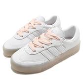 adidas 休閒鞋 Sambarose W 白 粉紅 女鞋 緞帶鞋帶 厚底 運動鞋 【ACS】 FY3030