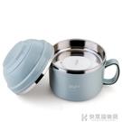304不銹鋼泡面碗帶蓋吃飯碗食堂飯盒餐具...