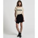 OneTeaspoon 羊皮 皮裙BLACK SUEDE WILD THING SKIRT 女(黑)