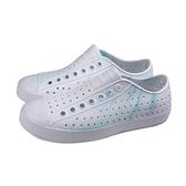 native 休閒鞋洞洞鞋白粉藍男女鞋11100110 8956 no048