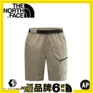 【The North Face 男 FLASHDRY 短褲 灰棕】CK9H/短褲/休閒短褲/快乾短褲
