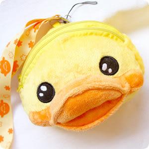 黃色小鴨造型零錢包卡包收納包附背帶 另售迪士尼皮克斯怪獸大學系列