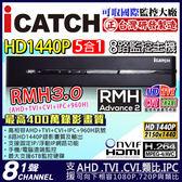 【台灣安防】監視器 AHD 8路DVR HD 1440P icatch 監視器主機 1080P 4MP/1080P/720P/960H RMH-0828EU-KA2(3)