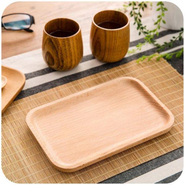 [超豐國際]日式盤子木盤木制碟子托盤 創意家用木托盤菜盤餐盤點心
