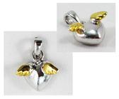 【卡漫城】 愛心 羽翼 項鍊 墜飾 庫1 ~ 吊飾 掛飾 時尚單品 心形 合金 墜飾頭  鍍金 禮物 翅膀 天使