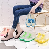 透明成人短筒雨鞋女防水鞋防滑膠鞋套鞋韓國時尚款外穿雨靴【輕奢時代】