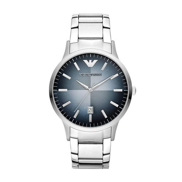 【靚靚小舖】美國代購 EMPORIO ARMANI亞曼尼 鋼帶藍漸變盤錶 男錶 AR2472