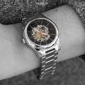范倫鐵諾˙古柏 鏤空玫金機械錶【NEV37】正品原廠公司貨