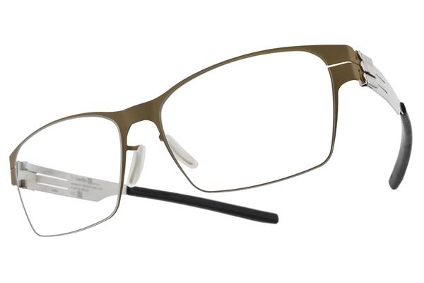 Ic! Berlin 光學眼鏡 LUKE J.Y. DESERT PEARL (霧咖啡-銀) 輕量工藝知性款 薄鋼眼鏡 #金橘眼鏡