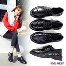 小皮鞋 黑色  厚底 軟底單鞋