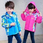 兒童沖鋒衣戶外裝男童外套加絨加厚寶寶女童防風衣潮 童趣潮品