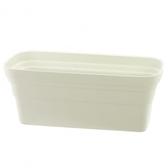 彩陶花槽-小(附底網)白藍混色