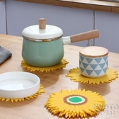 創意防燙硅膠圓形隔熱墊桌墊北歐家用耐高溫耐熱餐墊盤墊碗墊 京都3c