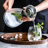 家用大容量耐熱加厚透明玻璃冷水壺帶蓋涼水壺果汁壺WY【快速出貨八五折鉅惠】