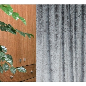 HOLA 素色緞紋雙層遮光落地窗簾 270x230cm 灰色