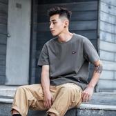 純色寬鬆潮流短袖t恤男 夏季百搭日系潮牌港風男士男生 米娜小鋪
