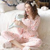 春夏純棉紗布月子服產婦產后哺乳睡衣孕婦大碼家居服套裝 全館免運