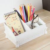 ✭慢思行✭【B16-1】歐式創意桌面化妝收納盒 整理盒 簡約化妝盒 雕花 桌面 首飾 化妝盒 好拿
