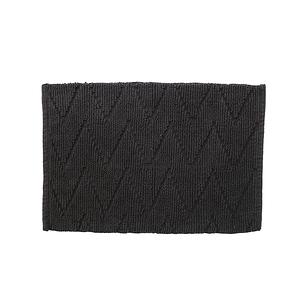 HOLA 沙曼印度純棉編織踏墊40x60cm 幾何深灰