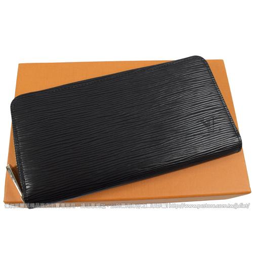Louis Vuitton LV M61857 M60072 ZIPPY EPI 水波紋皮革拉鍊長夾.黑 全新 預購【茱麗葉精品】