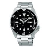 【台南 時代鐘錶 SEIKO】精工 5 Sports系列 SRPD55K1 潛水錶 鋼錶帶 機械男錶 4R36-07G0Q 黑 42.5mm