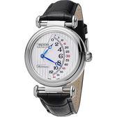 全球限量888只 epos Originale 原創系列雙逆跳限量機械腕錶-銀x黑/42mm 3431.878.20.30.25FB