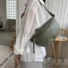腰包韓版時尚簡約百搭韓國秋季新款彎月形學生斜跨后背包包女 小時光生活館