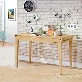 【水晶晶家具/傢俱首選】HT1758-7 貝爾4呎原木色簡約雙抽書桌~~雙色可選