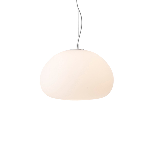 丹麥 Muuto Fluid Suspension Lamp 漂浮 霧白玻璃 吊燈(小尺寸)