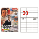 【奇奇文具】龍德LONGDER LD-834-W-A  白色 電腦列印標籤紙/三用標籤/30格 (105張/盒)